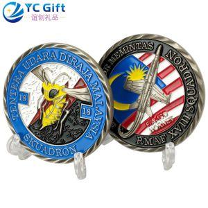 Militar estadounidense de Metal personalizados Ejército Artesanía Desafío Trump Coin 3D de suministros de Soft enamel modelo de avión Premio Deporte Productos Personalizados Souvenir Monedas con Logo