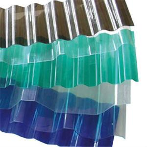 Folha de metal transparente de plástico a Folha de policarbonato de Papelão Ondulado 100& Bayer