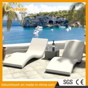 Acostado de mimbre Rattan Lounge forma ondulada Tumbona patio jardín Mobiliario de casa Piscina Playa