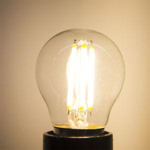 O plástico barato preço Filament G45 Bola lâmpada LED de 4 W