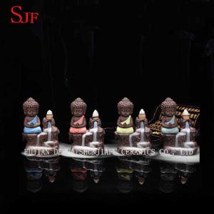 Piccola decorazione della casa della ceramica del bruciatore di incenso di riflusso del Buddha