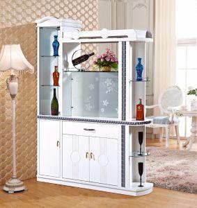 Современное белое вино из дерева корпус дисплея с вином для установки в стойку
