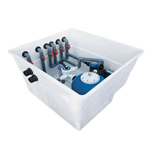 2HP pumpt Filter-Schwimmbad-Wasserabscheider-Filter