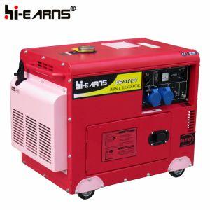 Tipo silenzioso raffreddato ad aria monofase diesel del gruppo elettrogeno (DG7500SE)