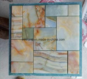 Het het Lichtgele Houten Marmer van Narual/Mozaïek van het Onyx voor AchtergrondMuur & de Tegel van de Vloer