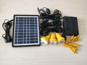 5W Mini Kits de Energía Solar para Casa con cargador de móvil