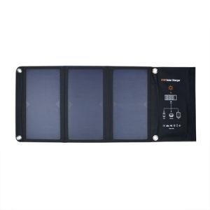 아마존 No. 1 21W Sunpower Foldable 유연한 연약한 탄력 있는 휴대용 태양 이동 전화 힘 위원회 피복 충전기