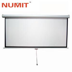 Manuel de 80 pouces blanc mat tirez vers le bas de l'écran de projection