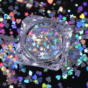 Or/Argent clou Sequin éblouissant de la Poussière Glitter Nail Art décorations 3D