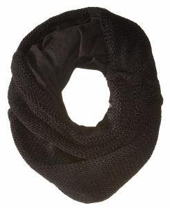 Venda por grosso de auditoria via sedex acrílico quente de Inverno Infinito Cachecol pesado lenço tricotado com forro de poliéster para Mulheres