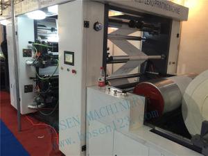 Completamente automática de tiendas de alta velocidad bolsa de papel de vaso de papel Kraft de laminación de papel la máquina de impresión flexo de Kfc