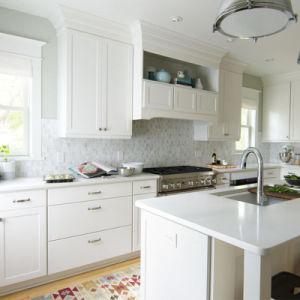 Keukenkasten van de Stijl van de Schudbeker van Foshan van de Huisvesting van Prima de Moderne Witte
