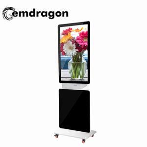 영상 선수 돌릴수 있는 LCD 디스플레이 서 있는 지면 광고 선수 LED 디지털 Signage 광고 서 있는 32 인치 전차 충전소 지면