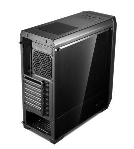 아크릴 Optinal를 가진 모든 까만 OEM 모형 ATX 컴퓨터 상자