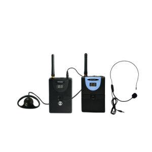 Microfoons van de Leraar van het multi-klaslokaal de de Draadloze en Oortelefoons van Stutents