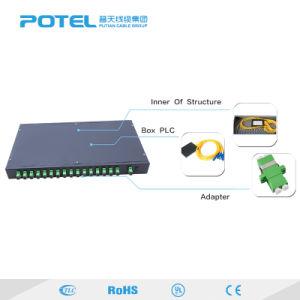 1X64 Tipo de chasis de fibra óptica FTTH divisor para PLC