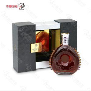 Bloqueio de ferro estilo simples de acondicionamento de vinho Caixa de madeira com espelho de PC