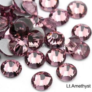 OppalカラーSs10機械切りのStrassのピンクの水晶ラインストーンの平背(FBss10 Lt Amethyst)