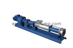 沈積物配達のための水平のステンレス鋼の高い粘着性ねじポンプ