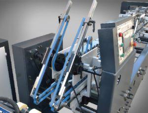 caja de cartón plegado automático de la máquina de encolado con bloqueo inferior (650)