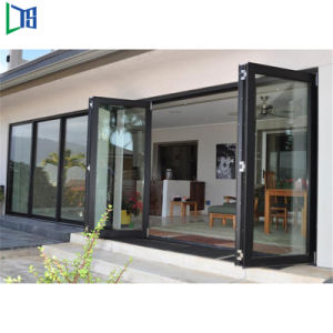 Australia Estándar Doble decorativos de vidrio vidrio interior Australia Bifold puertas