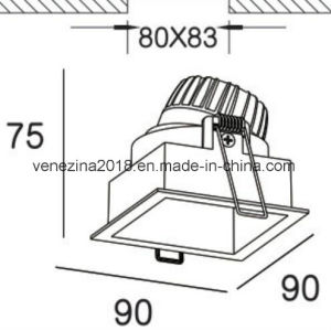 Soffitto Downlight d'accensione esterno della lampada dell'indicatore luminoso IP65 del punto della PANNOCCHIA 10W del CREE di Downlight della PANNOCCHIA del LED