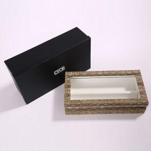Высокое качество деревянных PU ювелирных изделий из кожи косметической упаковки Подарочная упаковка