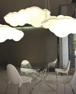 Moderne hängende Lampe für Projekt-kreative Acrylwolken-Form-Aufhebung-Beleuchtung