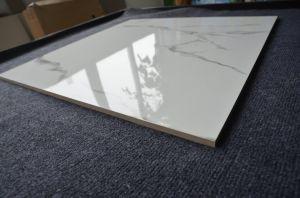 Eerste het Vloeren van Carrara van de Keus Glanzende Marmeren Witte Verglaasde Opgepoetste Tegel