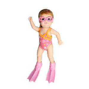 803857854 13 polegada B/S bonecas do bebé com óculos de natação e calçado –13 ...
