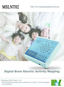 EEG DIGITAL Brain Electric Activity Mapping Mslnt02のポータブル19 Channels