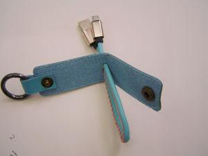 Promozione 2 della novità in 1 trasferimento di dati del USB di Keychain e cavo di carico per il telefono mobile