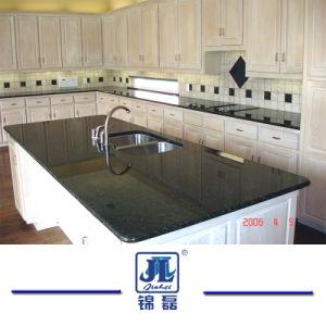 Het natuurlijke Opgepoetste Donkergroene Graniet van Verde Ubatuba Tafelbladen voor Countertop/van de Keuken de Bovenkant van de Ijdelheid/Plakken/Tegels/van de Tegel/van het Eiland van de Vloer/de bedekken die