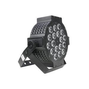 18 PC Mini RVB plat LED DMX en aluminium coulé par l'éclairage pour l'étape