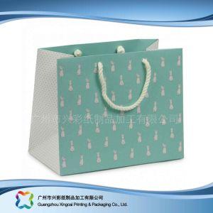 쇼핑 선물 옷 (XC-bgg-010)를 위한 인쇄된 종이 포장 운반대 부대