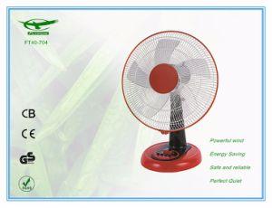3つの速度の設定のタイマーの携帯用家庭電化製品の机表ファン(FT40-704)