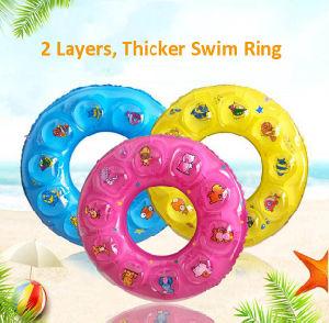 판매 여름 수영장 부동 투표자 팽창식 원형 Milti 전체적인 색깔 플라스틱 수정같은 수영 반지