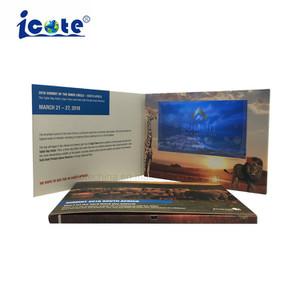 Opuscolo dell'affissione a cristalli liquidi personalizzato evento Digital del lancio video per la presentazione