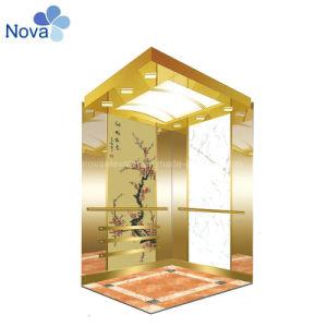 Роскошный Золотой стеклянный лифт кабины