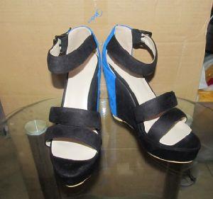 Haut Talon Fashion femmes Noires sandales de filtre en coin (HCY02-1630)