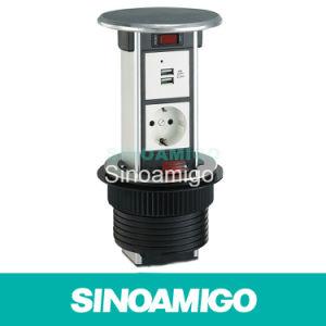Resistente al agua encimeras de cocina de la torre de energía emergente zócalos con cargador USB 4.2A y los datos