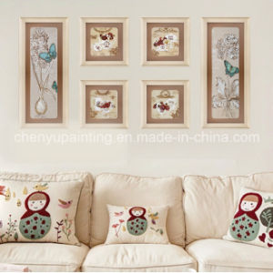 6PCS Muurschilderij Group Decorative Flower en Butterfly (ys-012)