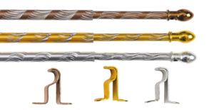 Staaf van het Gordijn van het Aluminium van de fabriek de Directe (R002)
