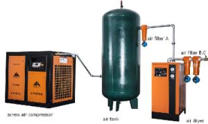 Type à vis de 60HP et source d'alimentation d'alimentation CA compresseur à air