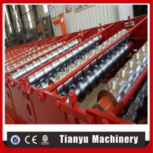 Panneau de toit de tôle en acier populaire Roll formant Tile Making Machine
