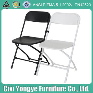 Weddings를 위한 백색과 Black Poly Plastic Folding Chair