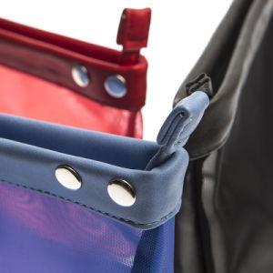 2018 Dernière conception Vente chaude PU Sac Pochette cosmétique de maillage de maquillage Sac cosmétique sac à fermeture éclair
