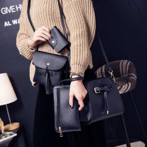 Señoras del bolso del bolso del mensajero del hombro de la taleguilla Bw1-145/bolsos de cuero de las mujeres