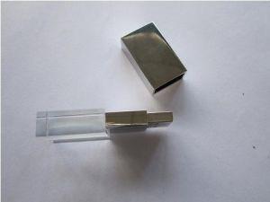 水晶および金属(OM-C102)から成っている透過USBのフラッシュ駆動機構