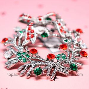 Chrismatsシリーズブローチのクリスマスの装飾の卸売の方法ジョーカーのダイヤモンドのラインストーンおよびラインストーンのブローチ(B01)